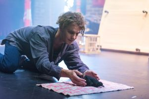 IllumiNation Theatre's Pearce Hessling performing 'A Foundling' by Daniel Keene Photography by Sarah Steiner